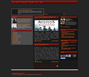 New-RedBrown blogger Template [ blogspot themes ]