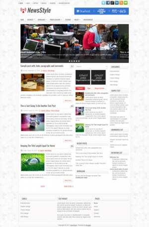 NewsStyle Blogger Template [ blogspot themes ]