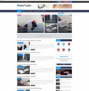 Newsflash Blogger Template [ blogspot themes ]