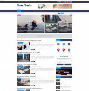 Newsflash Blogger Template [ blogspot themes ]