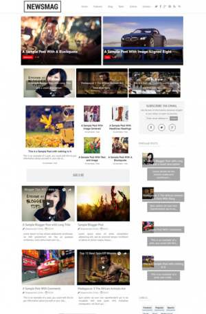 Newsmag Blogger Template [ blogspot themes ]