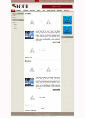 Nicol Blogger Template [ blogspot themes ]
