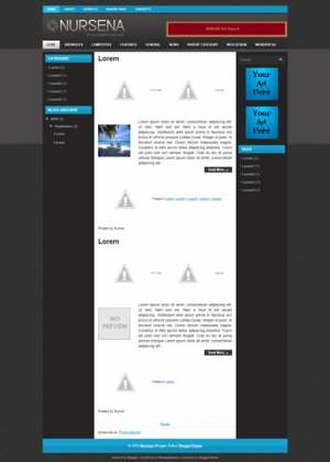 Nursena Blogger Template [ blogspot themes ]