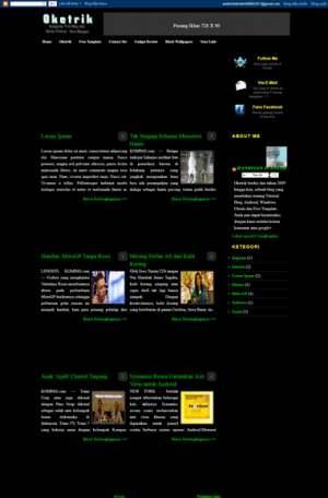 Oke Magazine Blogger Template [ blogspot themes ]