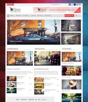 Olive News Blogger Template [ blogspot themes ]