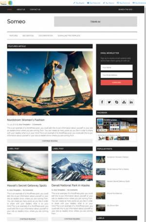 Omeo Responsive Blogger Template [ blogspot themes ]