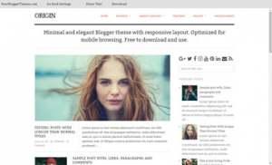 Origins ResponsiveBlogger Template [ blogspot themes ]