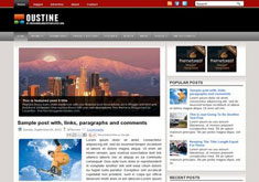 Oustine Blogger Template [ blogspot themes ]