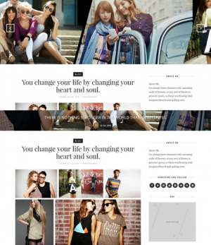 Outfit Dark Blogger Template [ blogspot themes ]