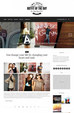 Outfit Light Blogger Template [ blogspot themes ]