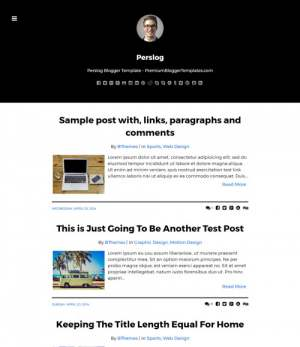 Perslog Blogger Template [ blogspot themes ]