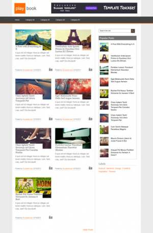 Play Book Responsive Blogger Template [ blogspot themes ]