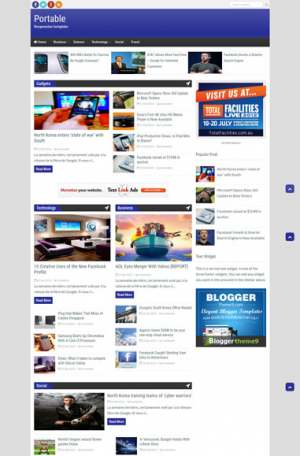 Portable Responsive Blogger Template [ blogspot themes ]