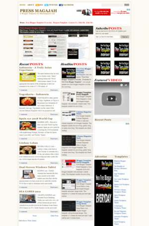 Press Magajah Blogger Template [ blogspot themes ]