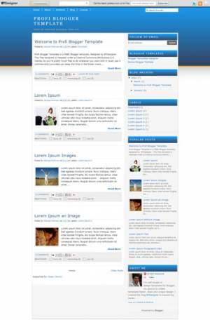 Profi Blogger Template [ blogspot themes ]