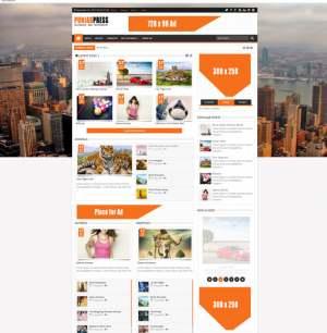 Punjab Press v5 ResponsiveBlogger Template [ blogspot themes ]