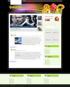 Queensha Blogger Template [ blogspot themes ]