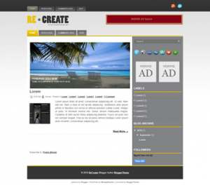 Re Create Blogger Template [ blogspot themes ]