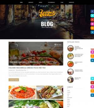 Recipes Blogger Template [ blogspot themes ]