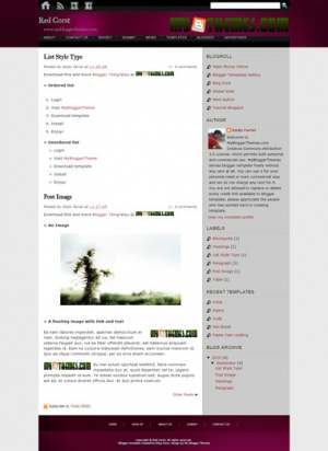 Red Corst Blogger Template [ blogspot themes ]