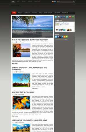 Red Point Blogger Template [ blogspot themes ]