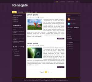 Renegate Blogger Template [ blogspot themes ]