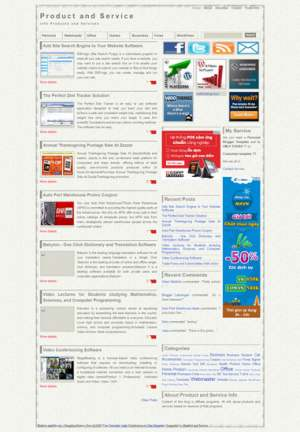 Resensi Post Blogger Template [ blogspot themes ]