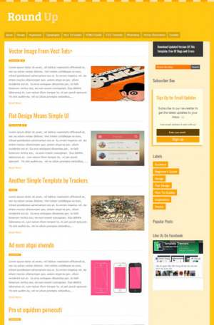 Round Up Responsive Blogger Template [ blogspot themes ]