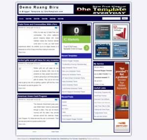 Ruang Biru Blogger Template [ blogspot themes ]