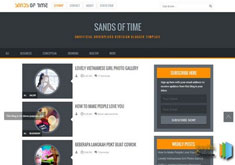 Sands of Time Responsive Blogger Template [ blogspot themes ]