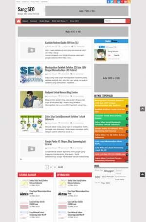 Sang SEO ResponsiveBlogger Template [ blogspot themes ]