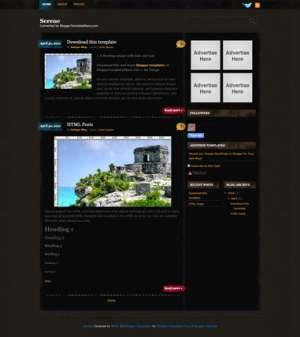 Serene Blogger Template [ blogspot themes ]