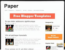 Shuffled Paper Blogger Template [ blogspot themes ]