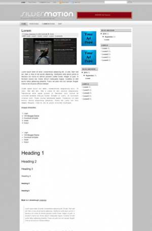 Silver Motion Blogger Template [ blogspot themes ]