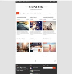 Simple Grid Blogger Template [ blogspot themes ]