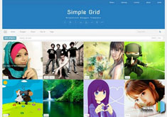 Simple Grid Responsive Blogger Template [ blogspot themes ]