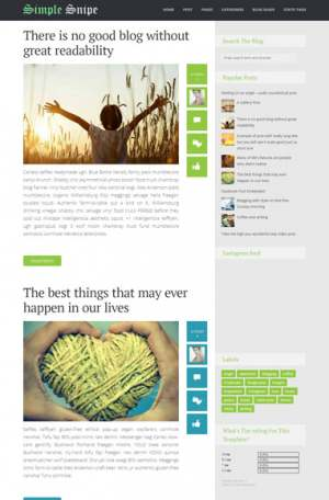 Simple Snipe Responsive Blogger Template [ blogspot themes ]