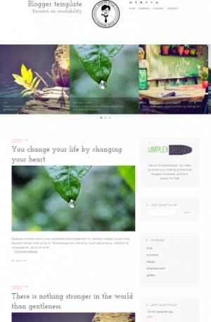 Simplex BLGBlogger Template [ blogspot themes ]
