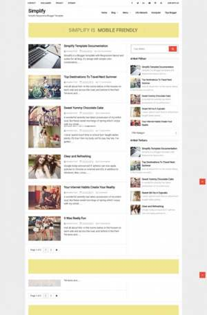Simplify Responsive Blogger Template [ blogspot themes ]