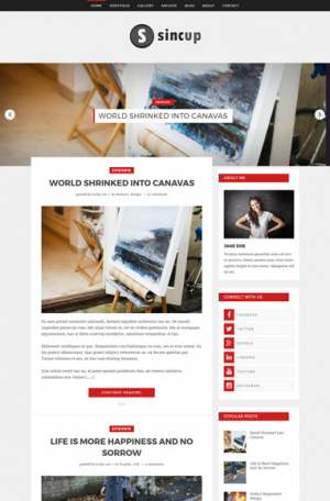 Sincup Blogger Template [ blogspot themes ]