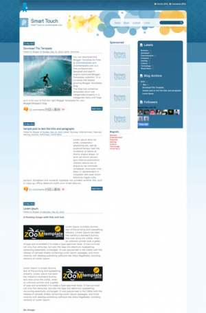 Smart Touch Blogger Template [ blogspot themes ]