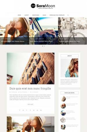 Sora Moon Blogger Template [ blogspot themes ]