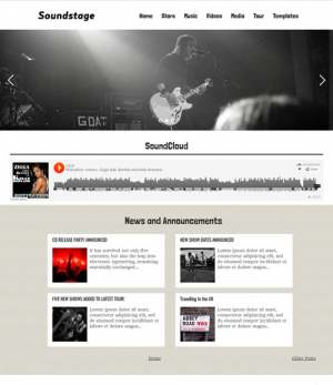 Soundstage Blogger Template [ blogspot themes ]