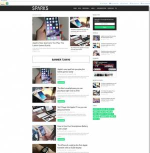 Sparks Blogger Template [ blogspot themes ]