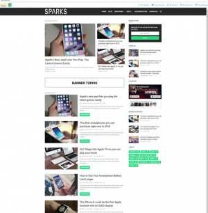 Sparks Blogger Template [ blogspot themes ]