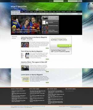 Sporty Magazine Blogger Template [ blogspot themes ]