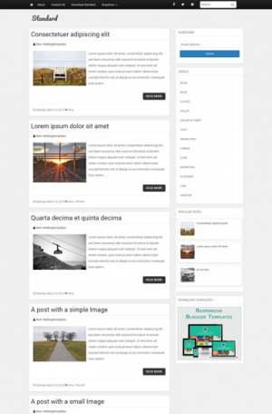 Standard Responsive Blogger Template [ blogspot themes ]