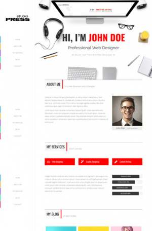 Studio Press Blogger Template [ blogspot themes ]