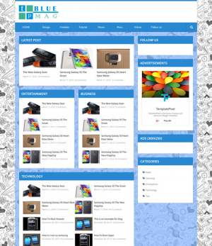 TP Blue Mag Responsive Blogger Template [ blogspot themes ]