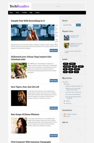 TechRoadies Blogger Template [ blogspot themes ]